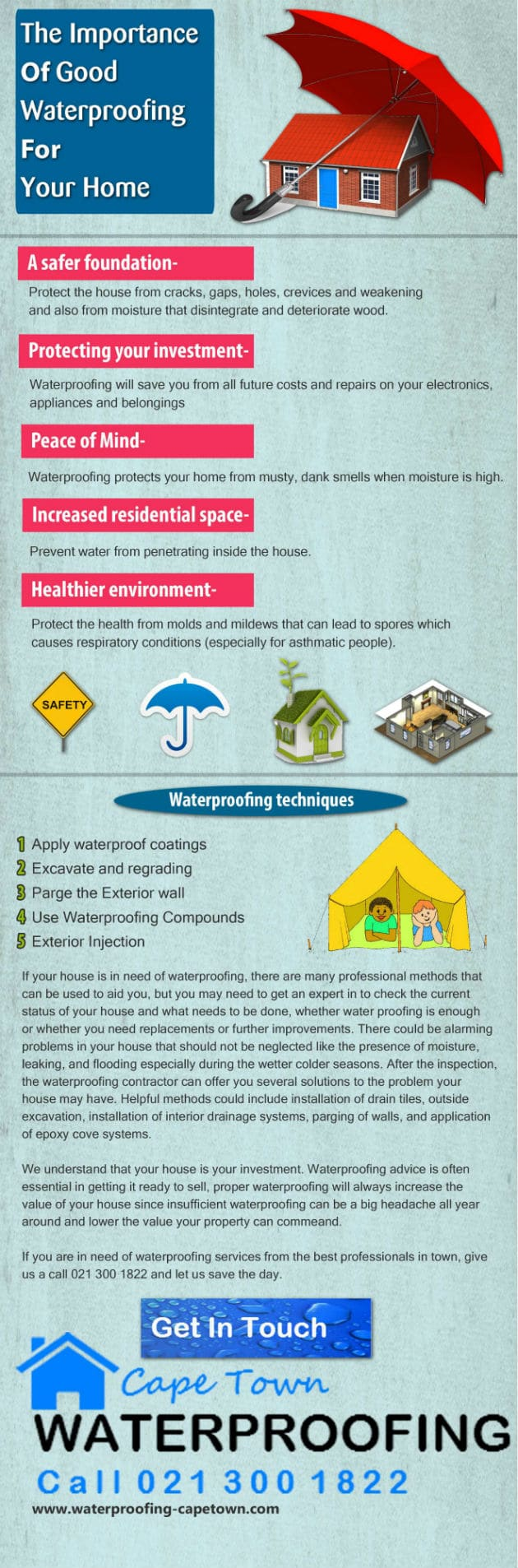 Infographic Image waterproofing Cape Town